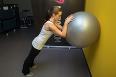 Ball triceps extension #1