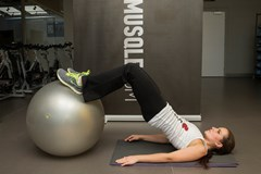 Stability ball curl #3