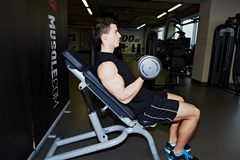 Incline Dumbbell Curls #2