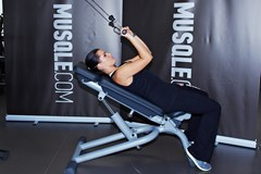 Cable Incline Triceps Extension #1